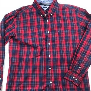 Tommy Hilfiger Plaid Button Down Shirt Size XL